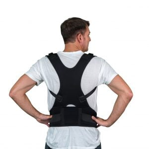 man with Solio Back Belt back
