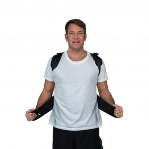 man with Solio Back Belt front