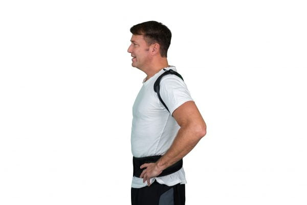 man with Solio Back Belt side