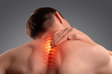 Pain in the cervical spine. Inflammation of the vertebra
